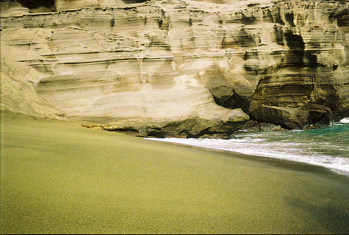 green sand beach papakolea