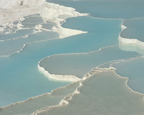 Pamukkale Turkey Soothing Baths in Pamukkale Hot Springs, Turkey