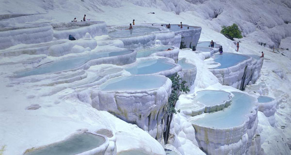 TravertinePools pamukkale Soothing Baths in Pamukkale Hot Springs, Turkey
