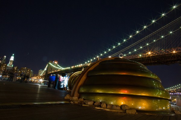 Telectroscope Under the Brooklyn Bridge