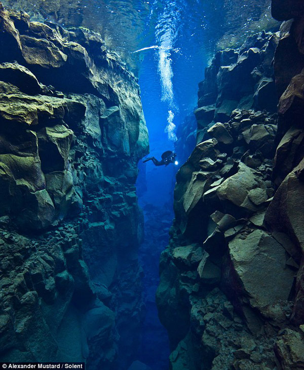 Diving in the Tectonic Plate Gap Between Europe and America