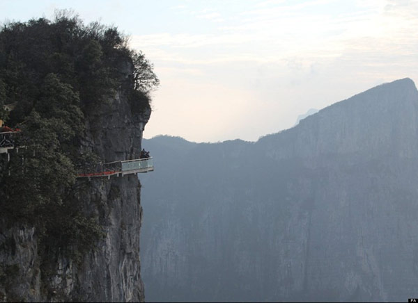 Glass Skywalk in the Tianmen Mountain