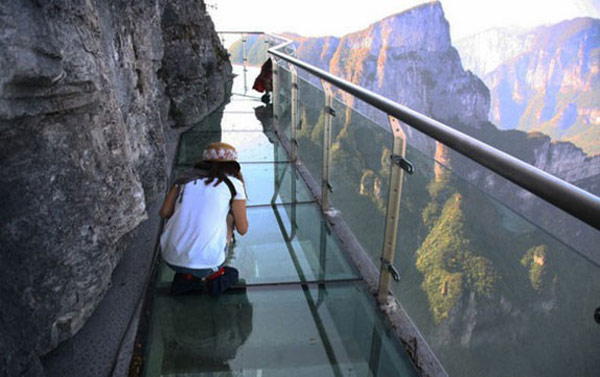 China from a Vantage Point: Glass Skywalk in the Tianmen Mountain