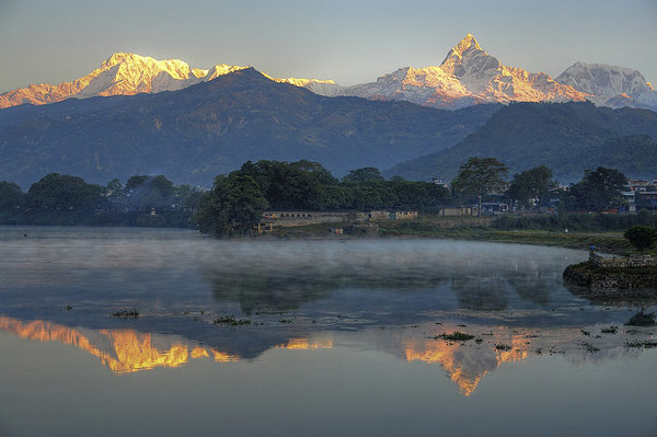 view from Fishtale Hotel n Lodge in Pokhara